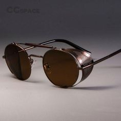 Vintage Mens Oval Tiger Eye Natural Stones with Yin Yang Symbol Engagement Ring Stainless Steel Male Accessories Anel Aneis Round Lens Sunglasses, Sunglasses Price, Sunglasses Online, Sunglasses Women, Retro Sunglasses, Luxury Sunglasses, Steampunk Men, Steampunk Fashion, Steampunk Goggles