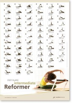 Stott Pilates Intermediate Reformer Wall Chart: Amazon