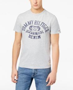 TOMMY HILFIGER MEN'S GRAPHIC-PRINT T-SHIRT. #tommyhilfiger #cloth #