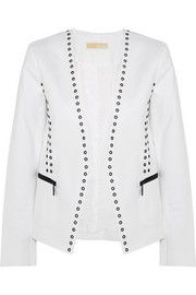 MICHAEL Michael KorsEmbellished stretch-cotton poplin jacket
