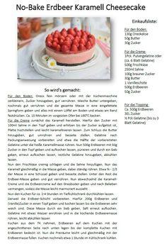 Erdbeer Karamell No BakeCheesecake