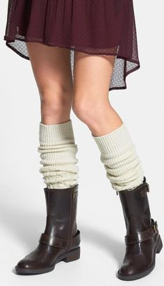 Transform your boots with cable knit leg warmers.