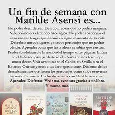 ¿Qué significa para vosotros un fin de semana con Matilde Asensi? - #Leer #Lectura #Aventura #igers #BookIgers #IgersAsensi #Libros #Libro #Love #Loveit #Novela #Asensi #MatildeAsensiFan #MatildeAsensi