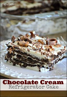 Chocolate Cream Refrigerator Cake (Easy No-Bake Dessert)