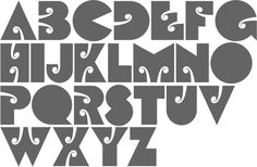 Type design information compiled and maintained by Luc Devroye. Poster Fonts, Pre And Post, Type Design, Psychedelic, Hand Lettering, Typography, Letters, Black And White, Face