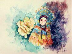 Chinese Opera Character-Hua Dan by r2born.deviantart.com on @deviantART