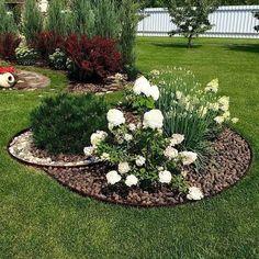 42 Amazing Garden Landscaping For Home Yard ideas flower front yard roses Front Yard Garden Design, Garden Yard Ideas, Easy Garden, Garden Projects, Garden Art, Backyard Ideas, Garden Soil, Allotment Gardening, Gardening Blogs