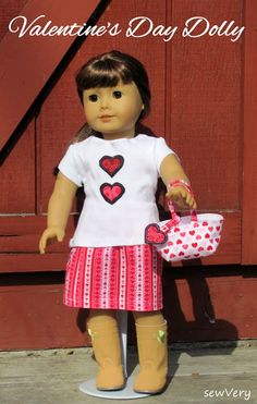 V-Day Dolly Outfit with Sew Very - Peek-a-Boo Pattern Shop: The Blog