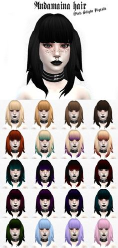 Andamaina hair with slight pigtails at Lady Hayny via Sims 4 Updates