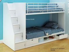 More click [.] Loft Bed With Stairs And Storage White Bunk Cameo Deluxe White Storage Bunk Bed Sleepland Beds White Cameo Deluxe Bunk Beds With Staircase Storage Bunk Beds For Boys Room, Adult Bunk Beds, Bunk Bed With Desk, Bunk Beds With Storage, Bunk Beds With Stairs, Cool Bunk Beds, Kid Beds, Kids Bedroom, Bedroom Ideas