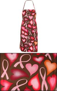 Another pink ribbons & hearts apron from www.thebreastcancersite.com for $14.95