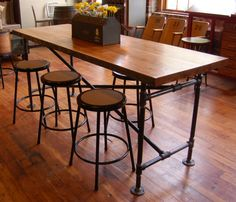 Industrial Bar Height Table   Yellow Chair Market