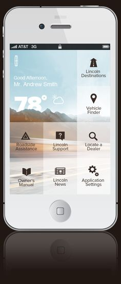Lincoln App by Adam M Morris, via Behance #automotive