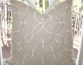 Designer Decorative Pillow - 16 x 16 Beige Grey Mohair Velvet - Neutral Gray Pillow - Textured PIllow Cover - Throw. $50.00, via Etsy.
