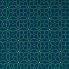 Teal Navy Blue Geometric Upholstery Fabric  by PopDecorFabrics