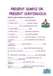 Tenses exercises present pdf