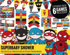 superhero baby shower – Etsy