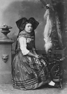 An Alsatian woman in traditional costume, photographed by Adolphe Braun.