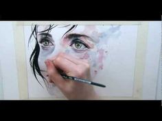 absolutely stunning time lapsed watercolor by Silvia Pelissero aka Agnes-Cecile