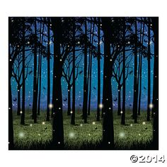 Enchanted Forest Scene Setter...You could use this background as a unique backdrop for your wedding ceremony !