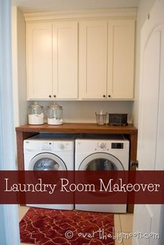 Laundry Room Renovation and Re-do. How I added so much storage and function to my laundry room!