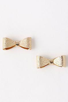 Ribbon Ribbon Stud Earring