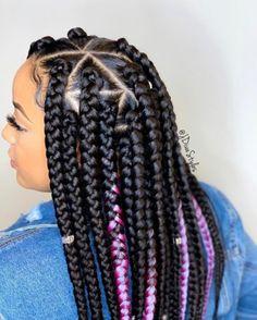 Top african hairstyles on jumbo braids jdivastyles triangleparts jumboboxbraids ghanaianhairstyle boxbraids jumbobraids longbraids diva do you love these box braids hairstylist tresses_africaine tresses_africaine tresses_africaine for Box Braids Hairstyles For Black Women, Braided Hairstyles For Black Women, African Braids Hairstyles, Braids For Black Hair, African Box Braids, Braid Hairstyles, Big Box Braids, Jumbo Box Braids, Box Braids Styling