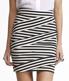 diagonal stripe skirt from express...super cute and comfortable. it was an unlikely addition to my wardrobe but glad I bought it!