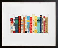 Ideal Bookshelf print - many choices for what books you'd be interested in: photography, fashion, cooking...