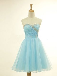 Strapless Homecoming Dresses,Cheap Hoco Dresses,Sweetheart Neck Short Prom