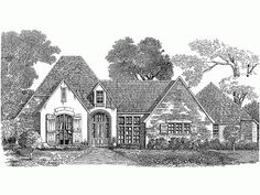 French Country House Plan with 3430 Square Feet and 4 Bedrooms(s) from Dream Home Source | House Plan Code DHSW54433