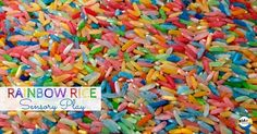 Rainbow Rice Sensory Play Activity. Make your own Rainbow Rice. Then engage kids in fun sensory play. And find out the benefits of Rainbow Rice Sensory Play