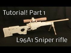 Tutorial! L96A1 Part 1 [rubber band gun] - YouTube