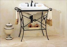 Granada Console Table with Neo - Venetian Petite Bathroom Sink Sink Finish: Black