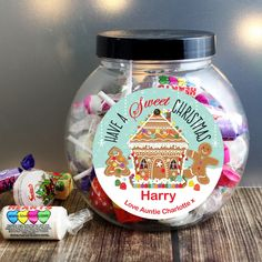 This Gingerbread House Sweet Jar is an ideal Christmas gift for anyone with a sweet tooth!  #ChristmasGifts