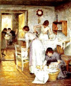 Ivana Kobilca (Slovene painter 1861-1926) Ironing Women - 1891