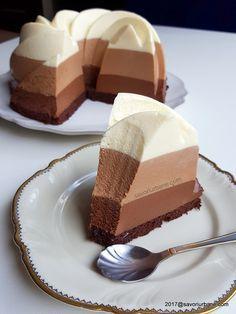 cum se face Trio cu ciocolata reteta de tort