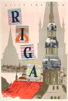 Visit the USSR Riga Travel POSTER