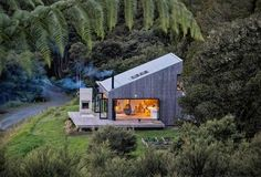 Back Country House by LTD Architectural « Inhabitat – Green Design, Innovation, Architecture, Green Building Open House, Tiny House, House 2, Casas Containers, Shed Roof, Cabins In The Woods, Modern Architecture, Future House, Exterior