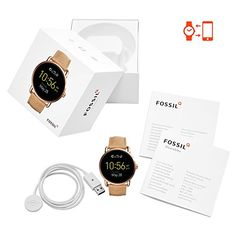 Fossil Q Wander Gen 2 Touchscreen Tan Leather Smartwatch #mens #watches #wristwatch #smartwatch