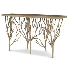 Shop the Forest Console Table at Perigold, home to the design world's best furnishings for every style and space. Steel Furniture, Cheap Furniture, Rustic Furniture, Luxury Furniture, Home Furniture, Office Furniture, Modern Furniture, Furniture Removal, Vintage Furniture
