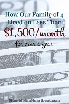 Our family of 4 survived on less than $1,500 a month for over a year. Click through to find out how we did it!