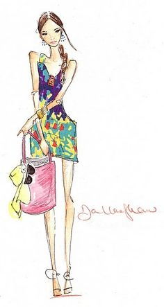 the cinderella project: because every girl deserves a happily ever after: Fashion Illustrations by Dallas Shaw
