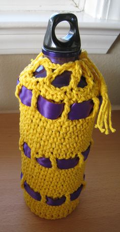 wikiHow to Crochet a Water Bottle Cozy -- via wikiHow.com