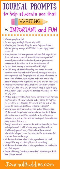 These 31 journal prompts help kids to see that writing matters by exploring themes like the importance of storytelling and how writing is used to disseminate ideas