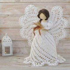 Mesmerizing Crochet an Amigurumi Rabbit Ideas. Lovely Crochet an Amigurumi Rabbit Ideas. Quilted Christmas Ornaments, Crochet Ornaments, Christmas Crochet Patterns, Holiday Crochet, Christmas Knitting, Christmas Angels, Christmas Crafts, Crochet Angel Pattern, Crochet Angels