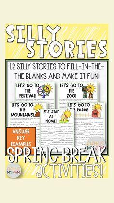 Parts Of Speech Activities, 5th Grade Activities, Spring Activities, Holiday Activities, Fun Activities, Upper Elementary Resources, Elementary Teacher, Elementary Schools, Learning Tools