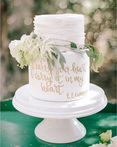 Cake calligraphed with a line from e. e. cummings