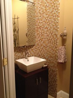 Modern powder room Powder Room, Sink, Concept, Interiors, Mirror, Bathroom, Elegant, Modern, Furniture