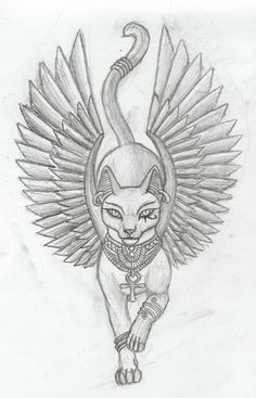 Bastet V1 Tattoo By Tharanthiel Traditional Art Drawings Fantasy 2010